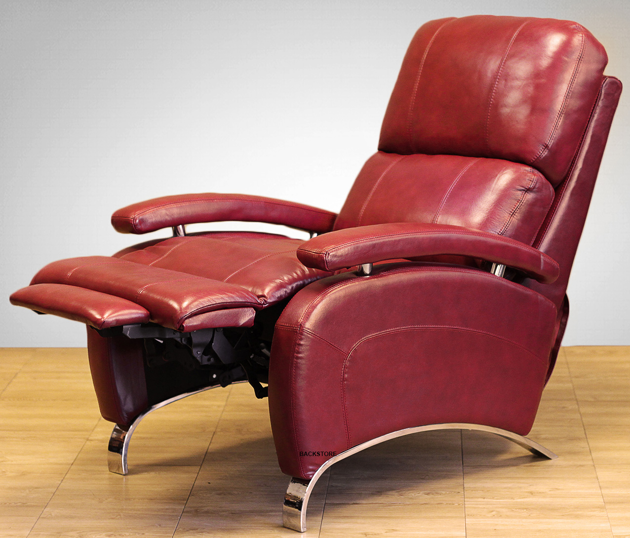 Barcalounger Oracle II Genuine Leather Recliner Lounger Chair ...