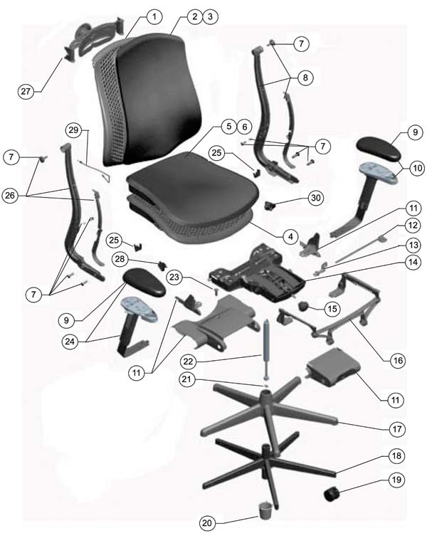 Herman Miller Celle Chair Parts Authorized Retailer And