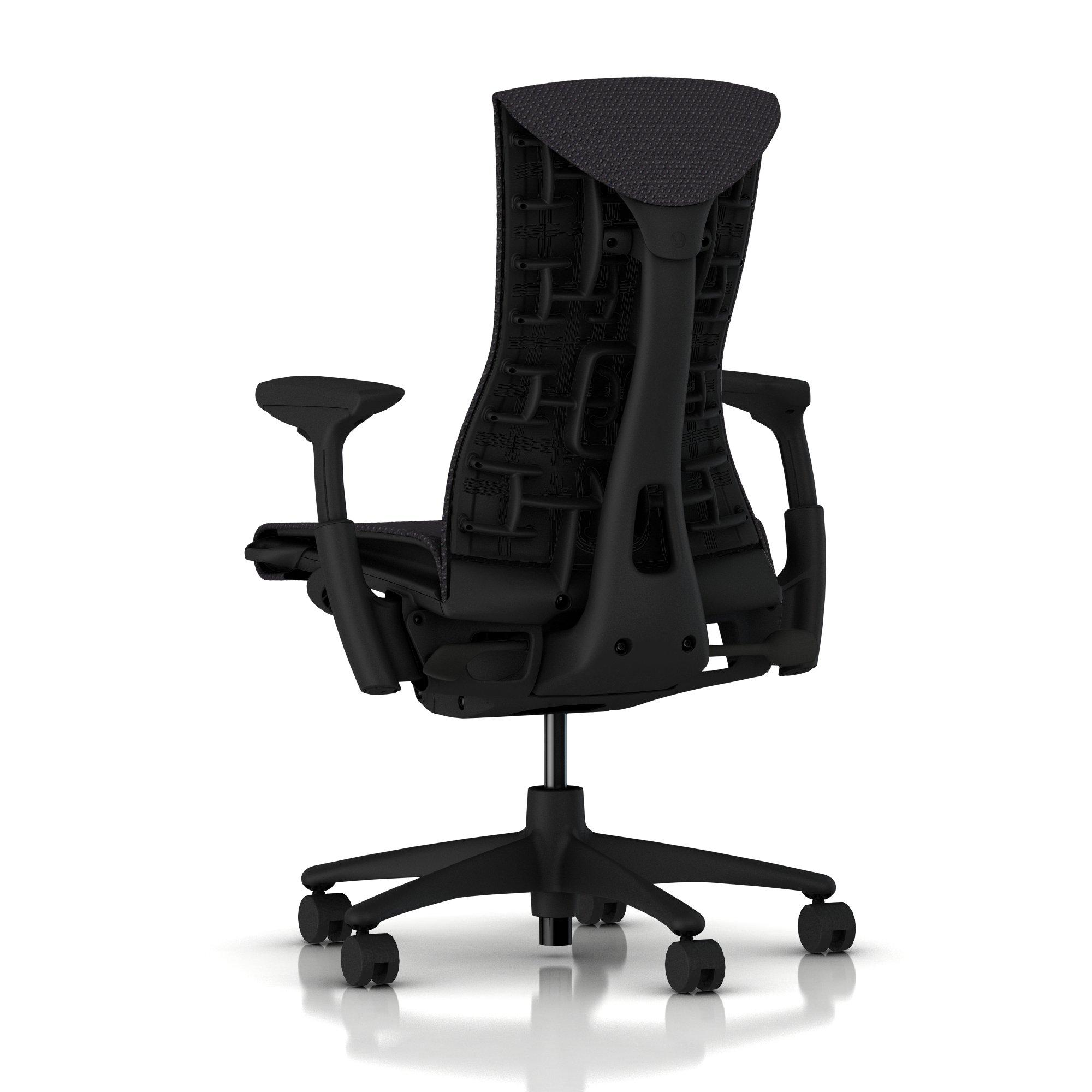 herman miller embody chair carbon balance with graphite frame and