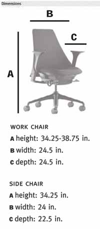 sayl chair dimensions by herman miller