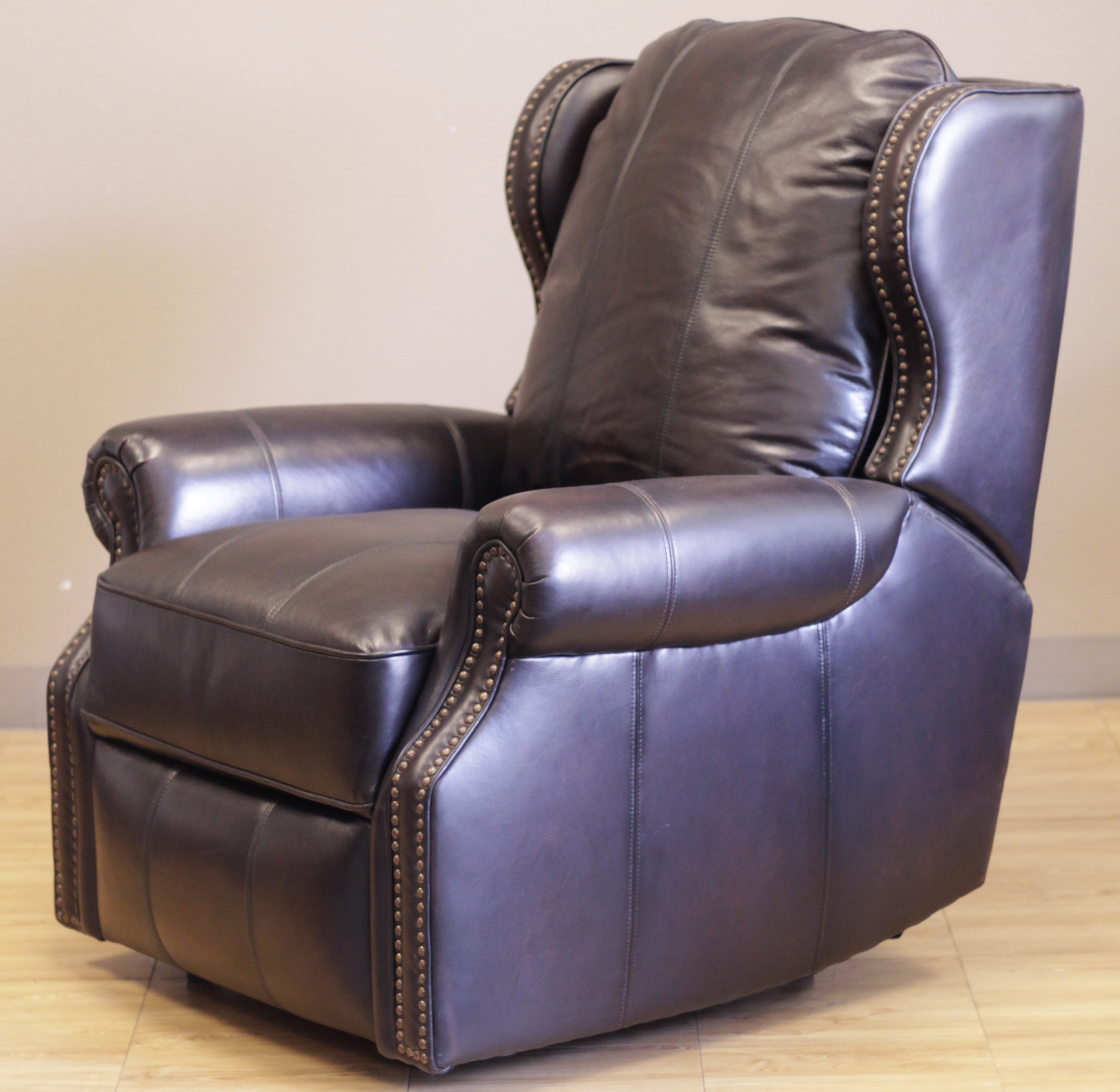 Barcalounger Bristol II Recliner Chair Pearlized Black Leather