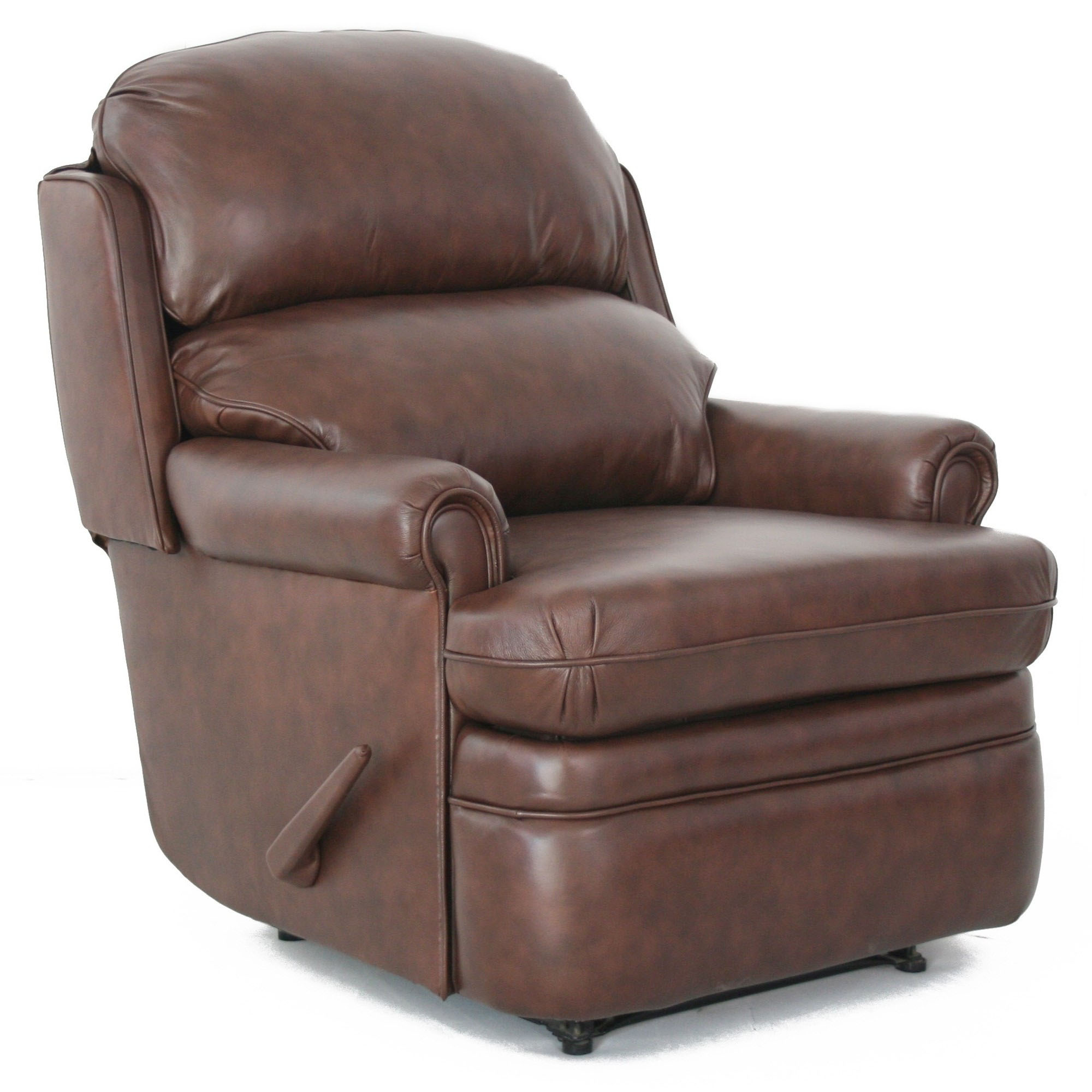 capital club ii recliner chair brown leather