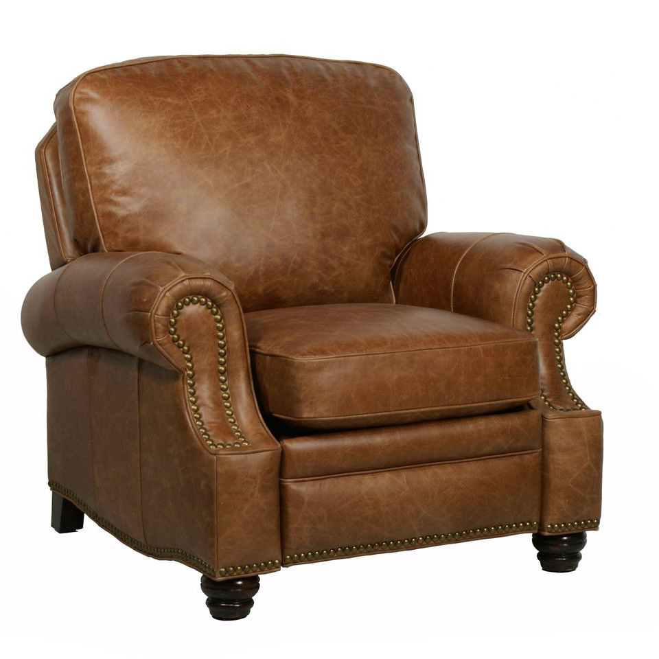 Barcalounger longhorn ii leather recliner chair leather for Chair sofas