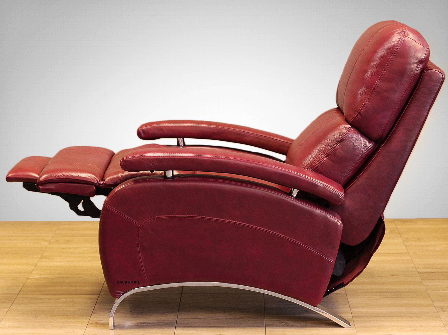 Barcalounger oracle ii genuine leather recliner lounger for Barcalounger