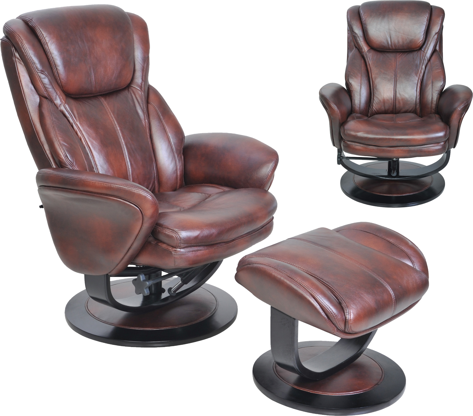 Barcalounger roma ii recliner chair and ottoman leather for Barcalounger
