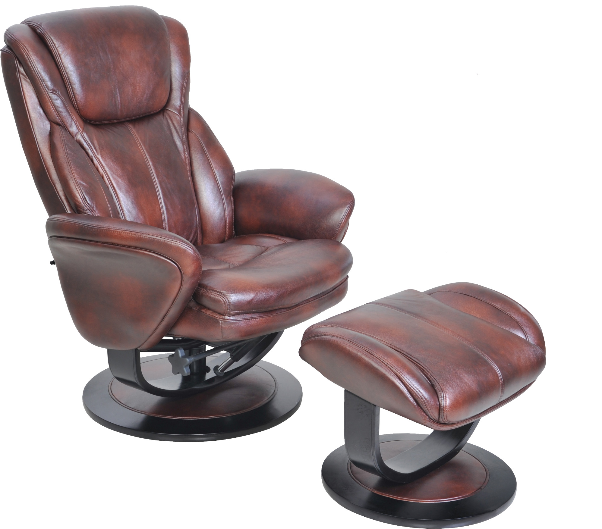 barcalounger roma ii leather recliner chair and ottoman. beautiful ideas. Home Design Ideas
