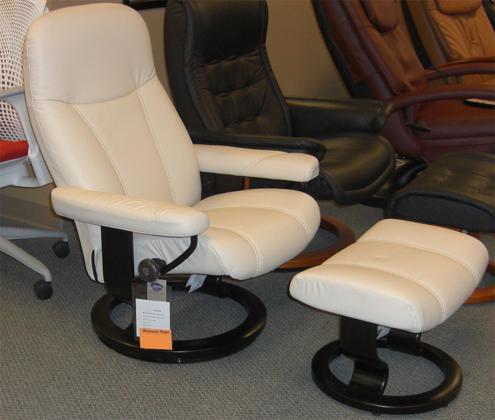 Stressless Batick Cream Leather by Ekornes