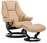 Stressless Live Medium Recliner Chair and Ottoman by Ekornes