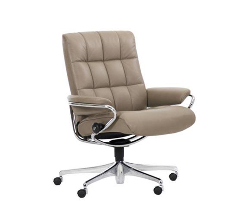 Ekornes Stressless London Low Back Leather Recliner and