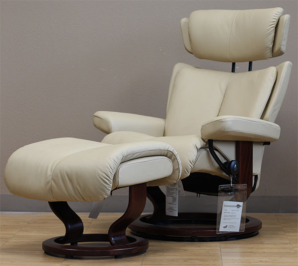 Stressless Magic Paloma Camel Leather Recliner from Ekornes