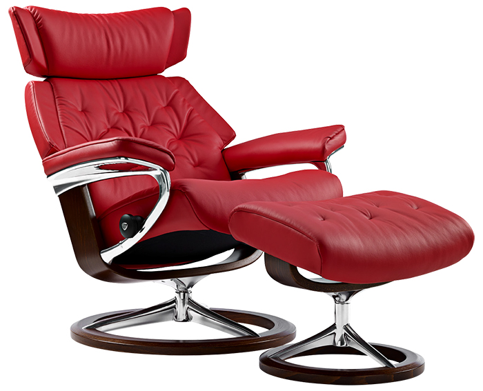 Stressless Signature Steel And Wood Base For Ekornes Recliner And Chairs