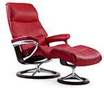 Stressless View Recliner Chair and Ottoman by Ekornes