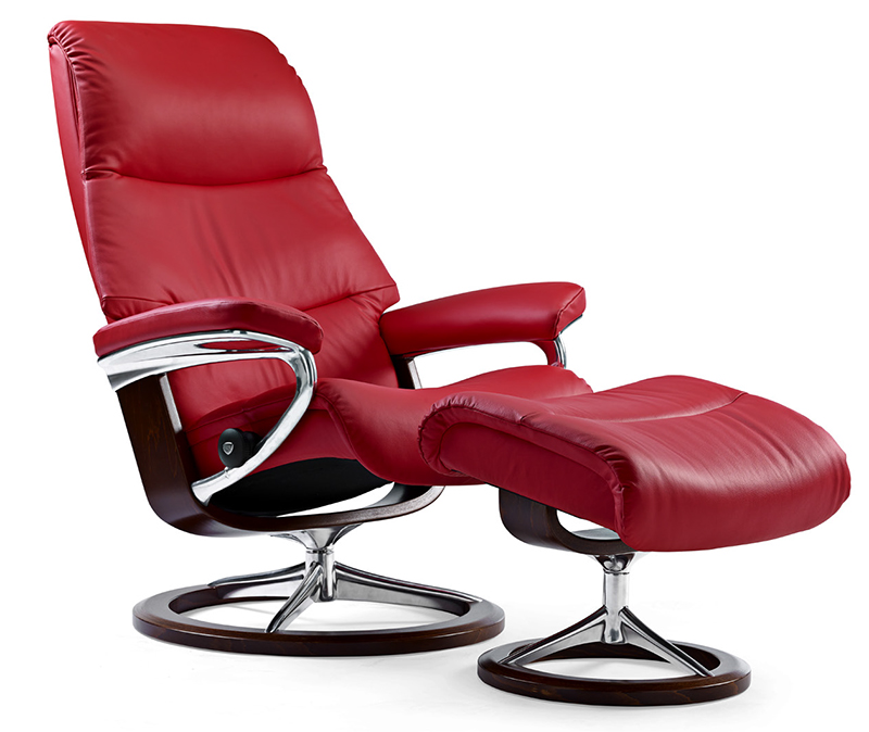 Stressless View Medium Recliner Chair And Ottoman By Ekornes