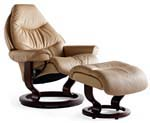 Stressless Voyager Recliner Chair and Ottoman by Ekornes