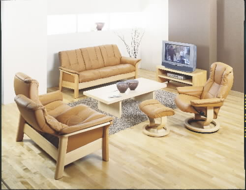 Stressless Paloma Tan Leather Color Sofa from Ekornes