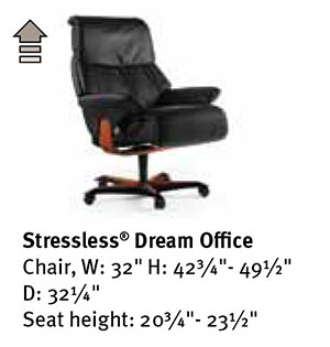 stressless dream office desk chair by ekornes seating furniture. Black Bedroom Furniture Sets. Home Design Ideas