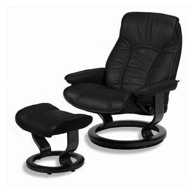 stressless governor leather ergonomic recliner and ottoman by ekornes