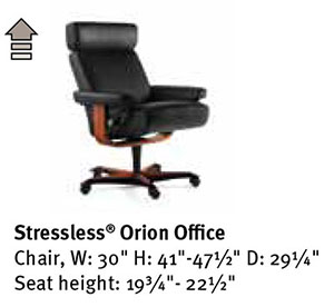 stressless orion office desk chair by ekornes seating furniture. Black Bedroom Furniture Sets. Home Design Ideas