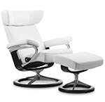 Stressless Viva Recliner Chair and Ottoman