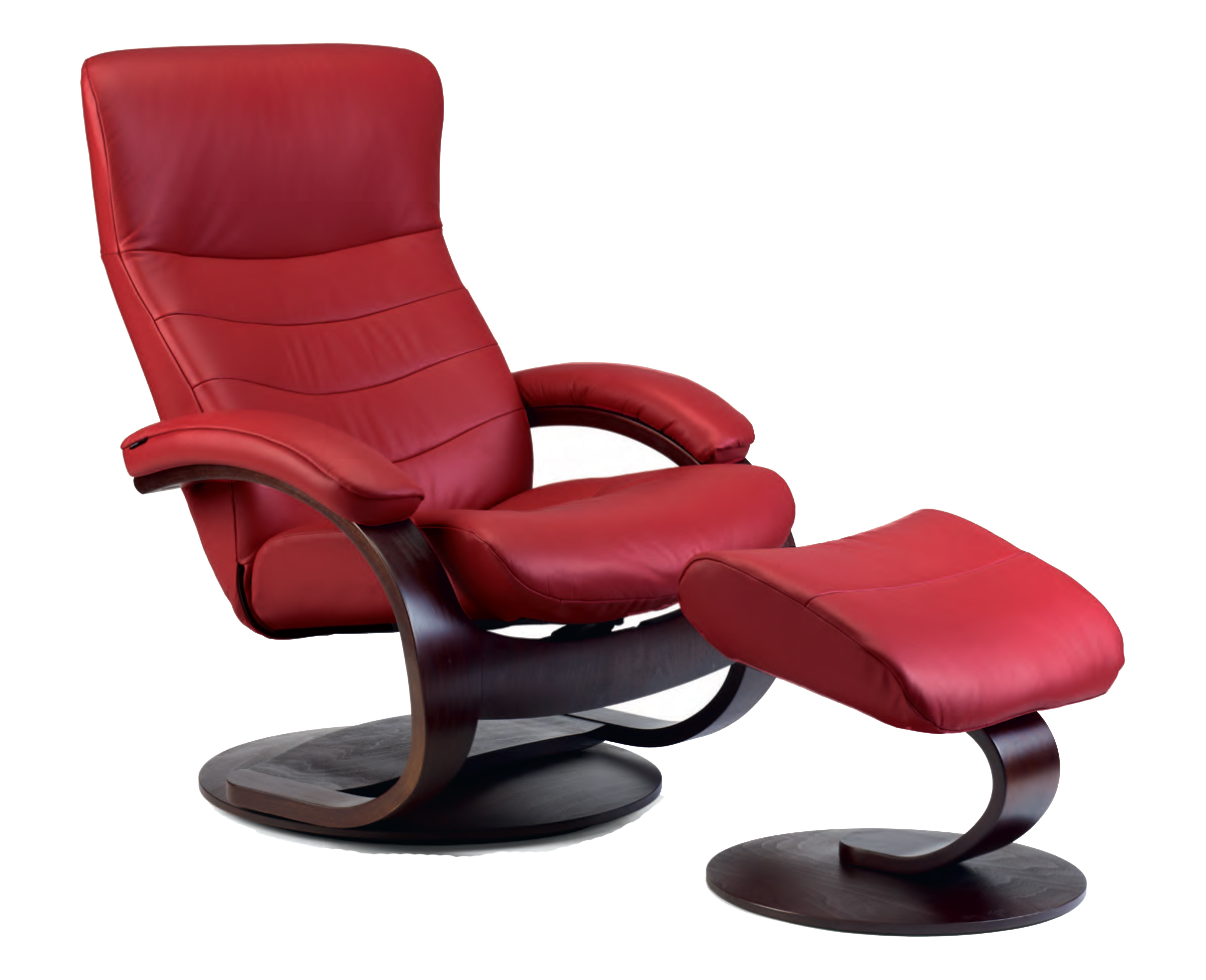 Fjords Trandal Ergonomic Leather C Frame Recliner Chair