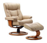 Manjana Ergonomic Recliner and Ottoman by Fjords