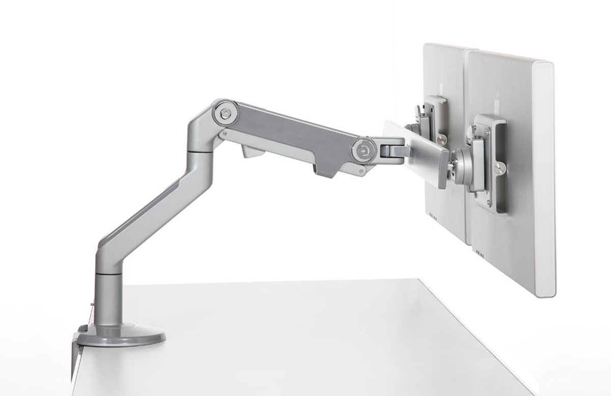 Humanscale M8 Dual Monitor Arm With Crossbar Ergonomic