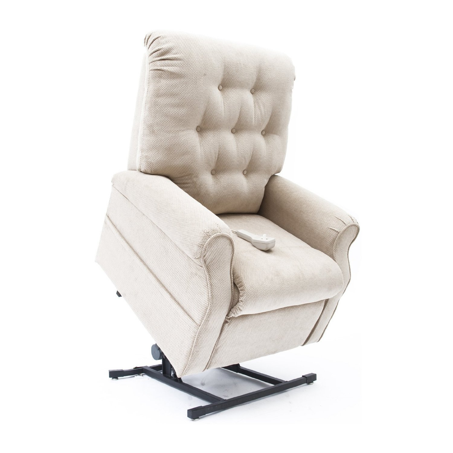 New Fawn Tan Easy Comfort LC 200 Power Electric Lift Chair Mega Motion Reclin
