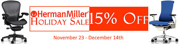 Herman Miller Holiday Sale - 15% Off Sale