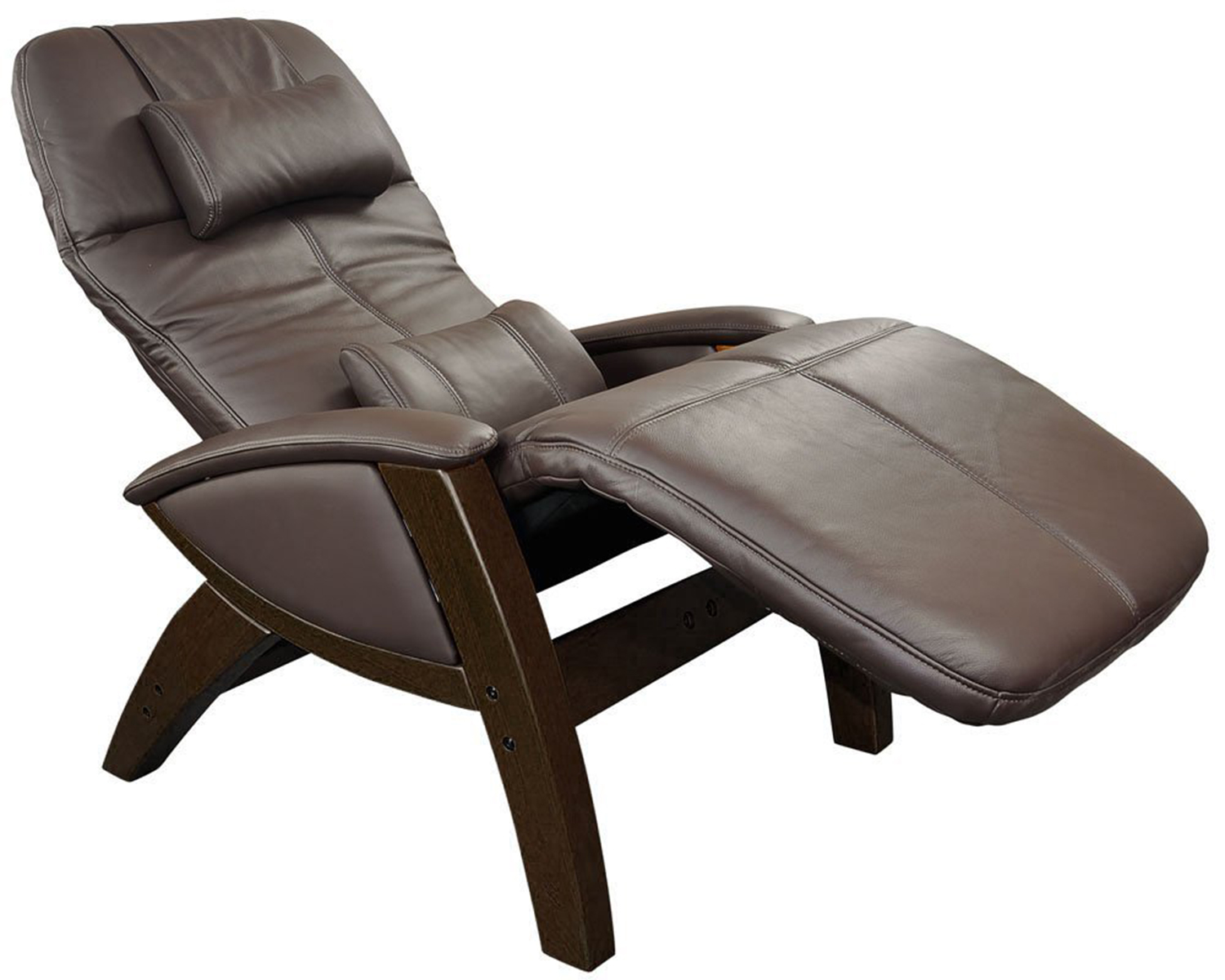 chocolate leather svago sv400 lusso chair zero gravity recliner