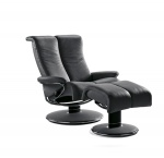 Stressless Blues Recliner Chair and Ottoman by Ekornes