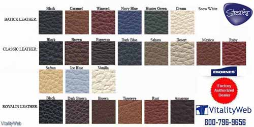 Stressless Cori Petrol Leather Colors