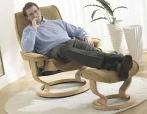Stressless Governor Leather Ergonomic Recliner and Ottoman by Ekornes : ekornes stressless governor recliner - islam-shia.org