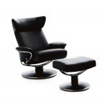 Stressless Jazz Large Recliner Chairs and Ottoman