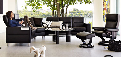 Stressless Wave High Back Sofa (Medium), LoveSeat, Chair And Sectional By  Ekornes