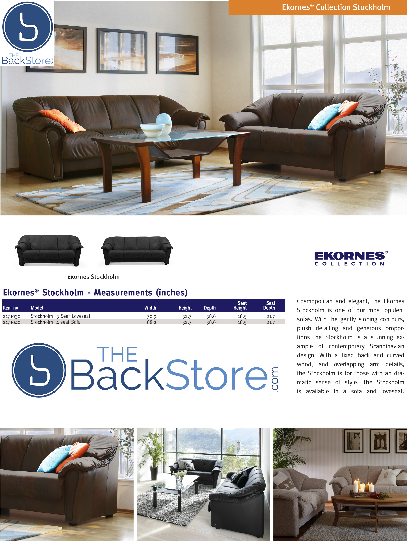 Fasjonable Ekornes Stressless Stockholm Sofa - Ekornes Stressless Stockholm FM-49
