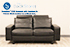 Stressless E200 LoveSeat Sofa in the Paloma Black Leather