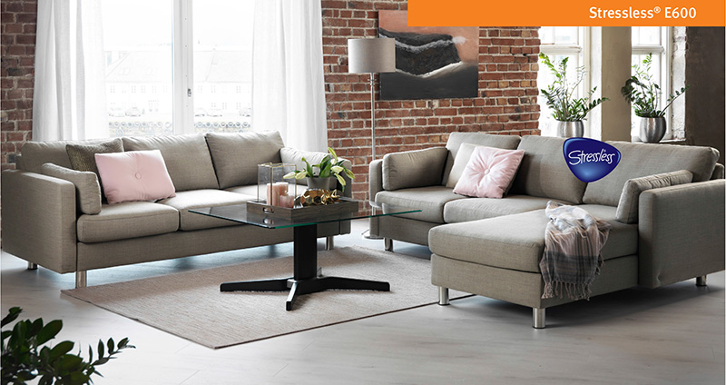 Ekornes E600 Leather Sofa and Loveseat by Stressless