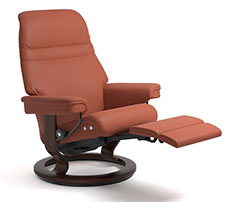 Stressless Sunrise LegComfort Power Extending Footrest with Classic Wood Base