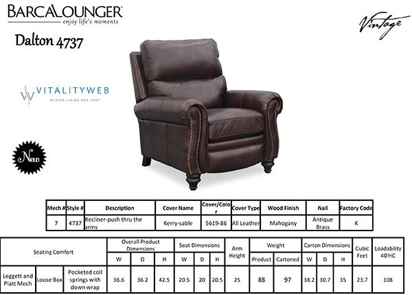 barcalounger dalton ii recliner chair leather recliner chair