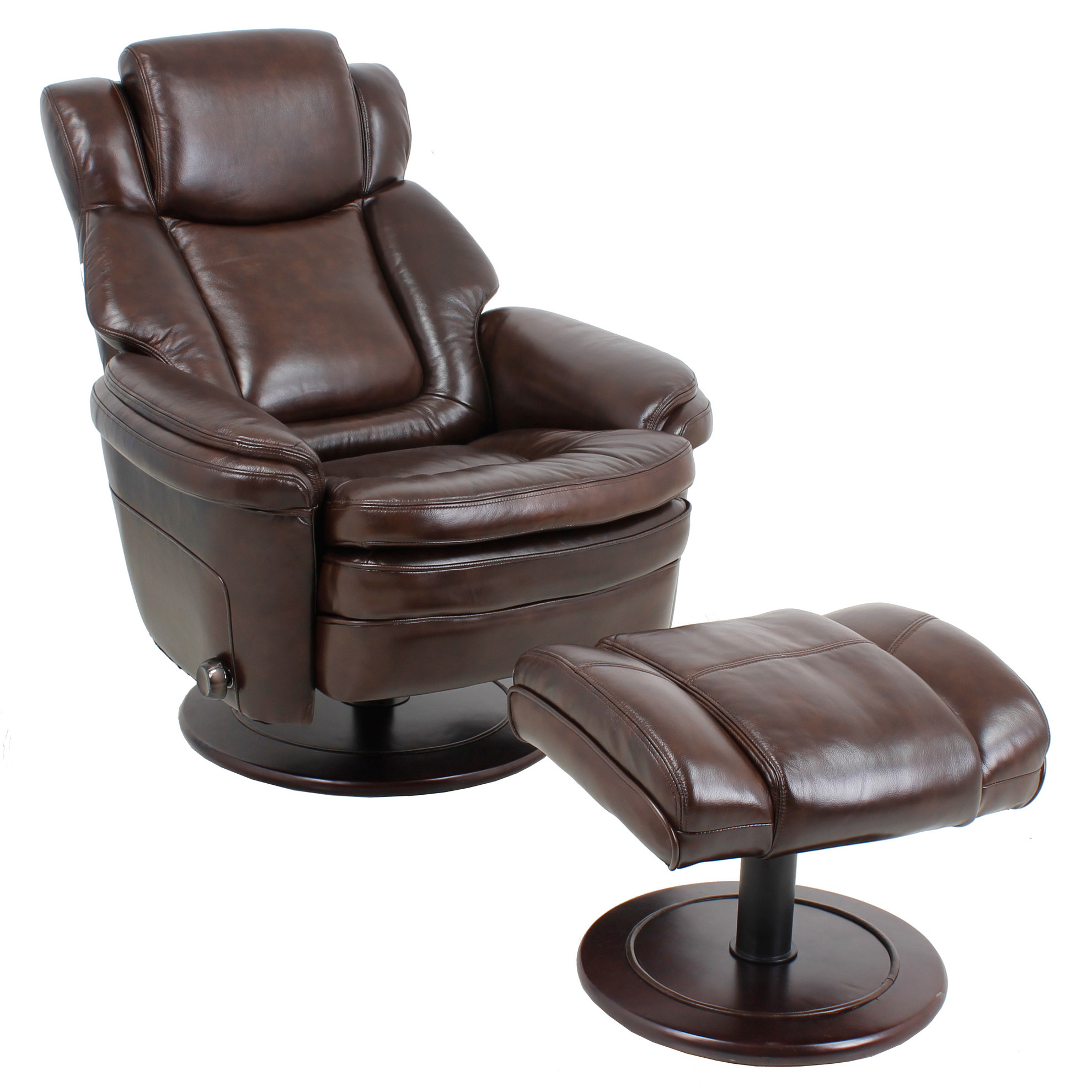 Barcalounger Eclipse II Leather Recliner Chair And Ottoman