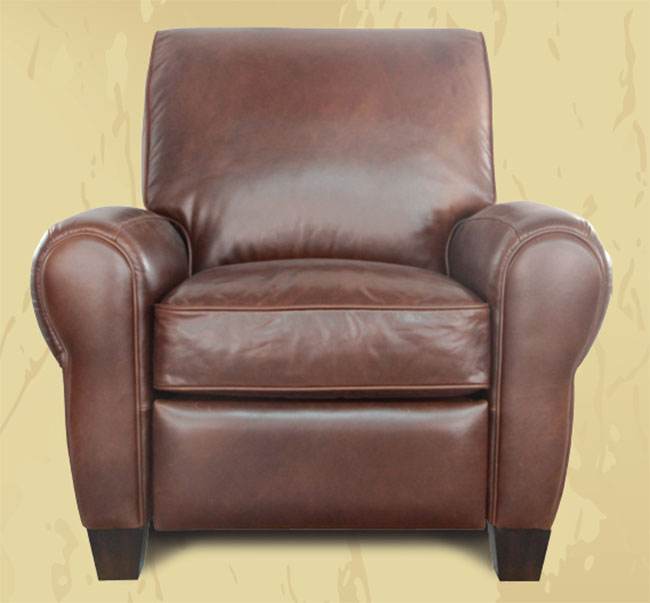 Barcalounger Savannah Whiskey Leather Lectern Ii Recliner Chair