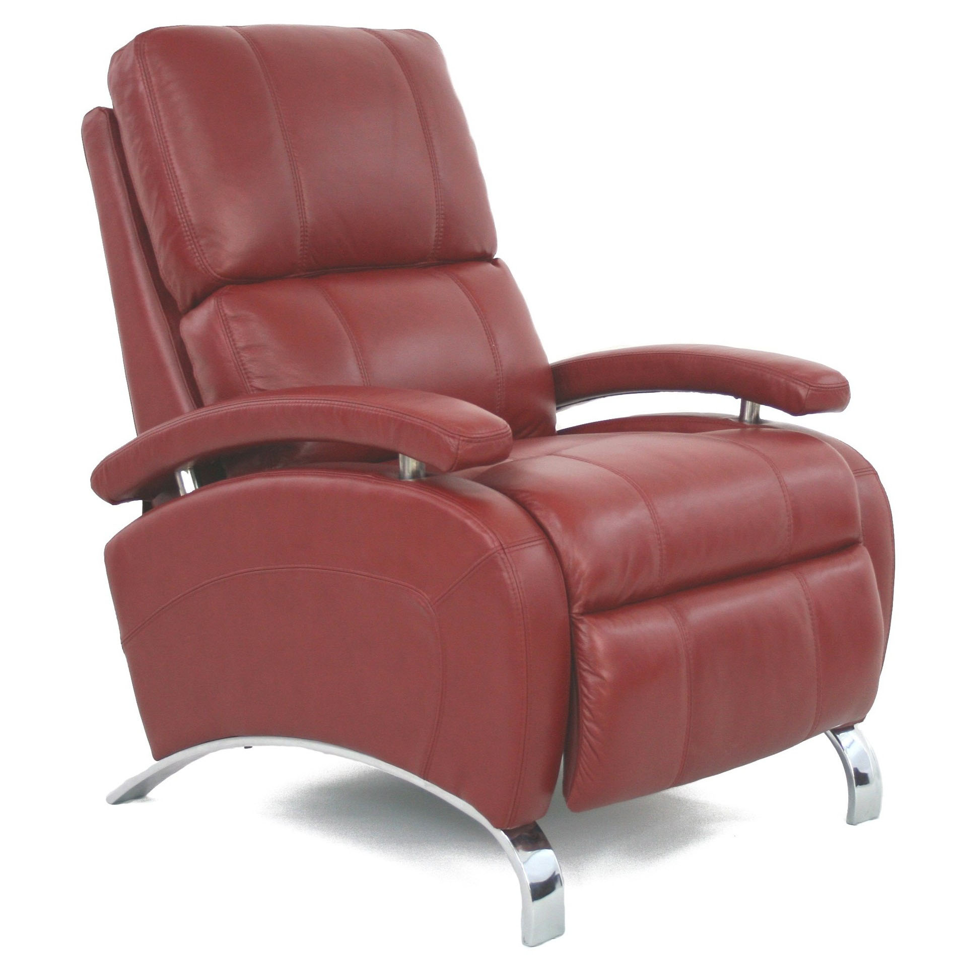 Barcalounger Oracle II Recliner Chair Red Leather