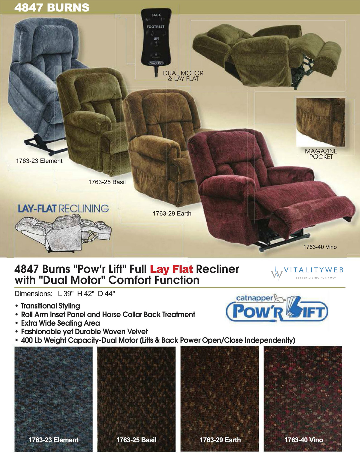 Catnapper Burns 4847 Dual Motor Power Lay Flat Lift Chair Recliner. Catnapper Burns 4847 Power Lift Chair Recliner. Wiring. Catnapper Lift Chair Wiring Diagram At Scoala.co