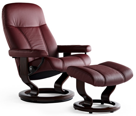 Stressless Diplomat Small Consul Recliner Chair and ...