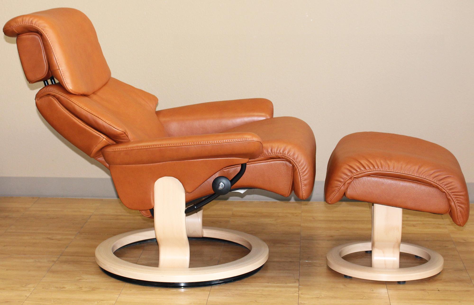 Stressless Dream Royalin Tigereye Leather Recliner Chair