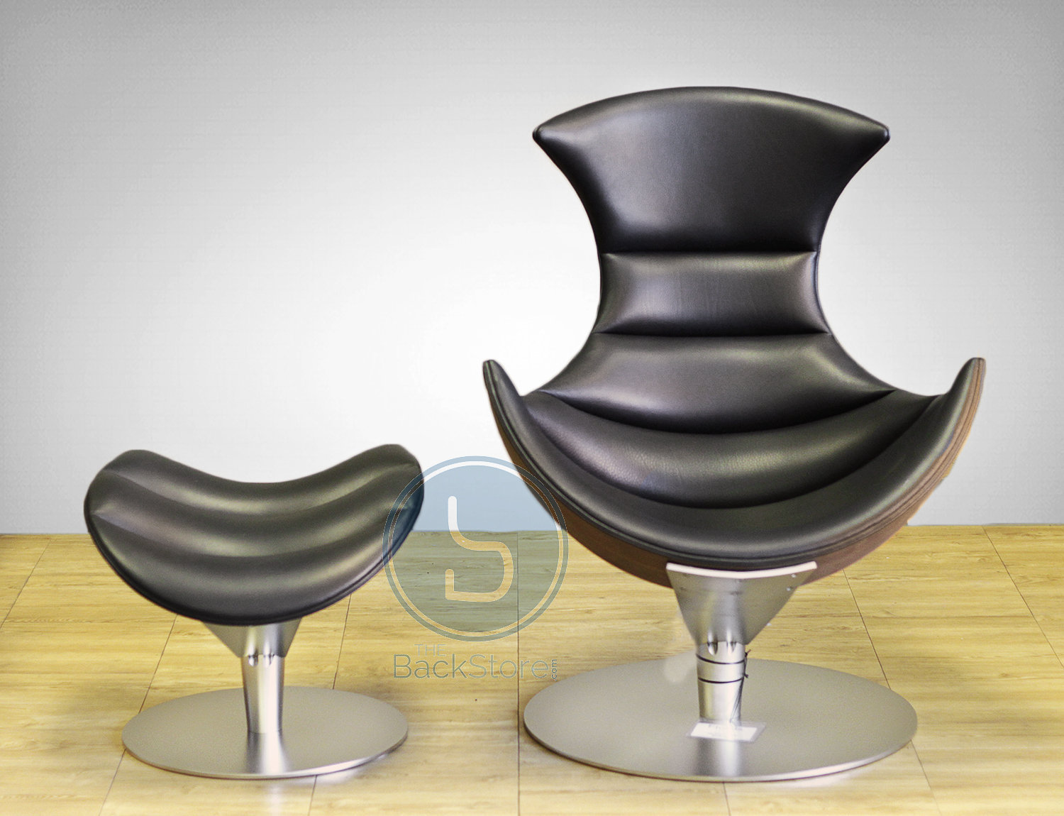 Fjords Lobster Chair Recliner And Footstool In Passion