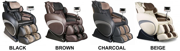 Osaki OS-4000 Executive Zero Gravity Massage Chair Recliner Colors