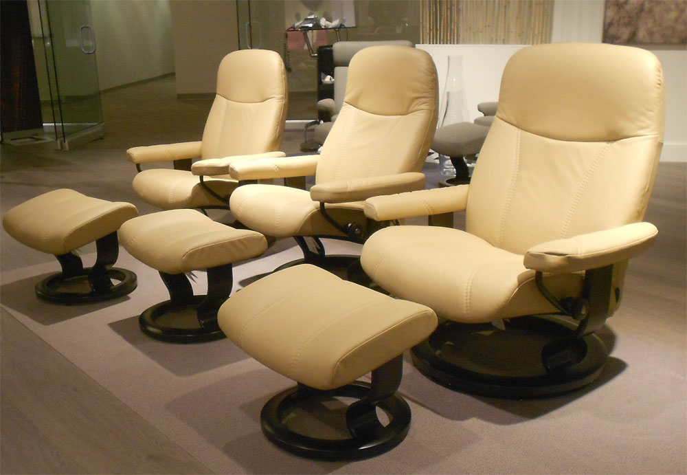 Stressless Ambassador Large Consul Batick Latte Leather by Ekornes