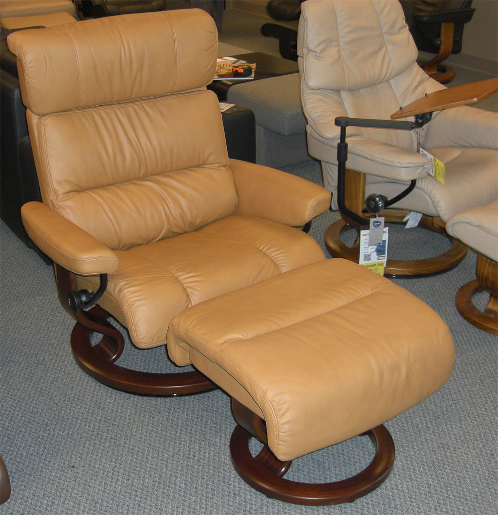 Stressless Paloma Tan Leather Chair