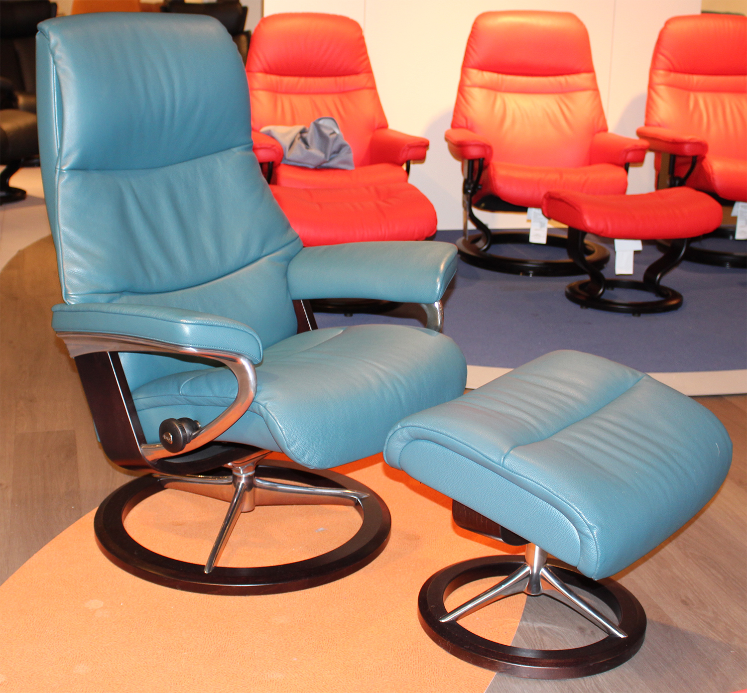Stressless Cori Petrol Leather By